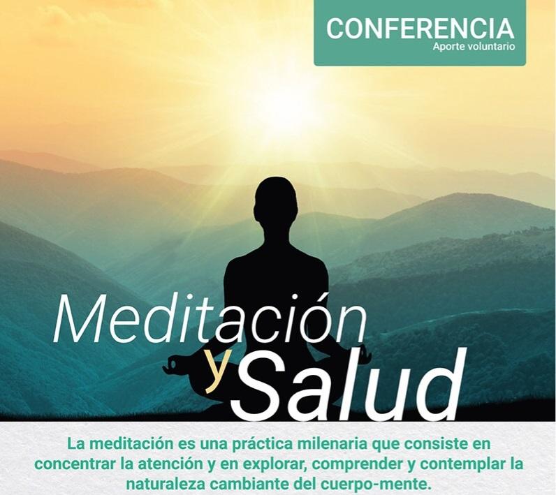 Conferencia: Meditación y salud – 23 de marzo- 6:30 pm