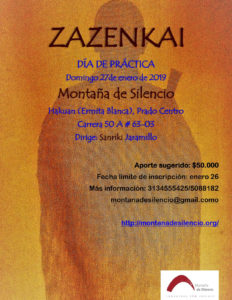 ZAZENKAI: DOMINGO 27 DE ENERO -6:00 am – 6:00 pm