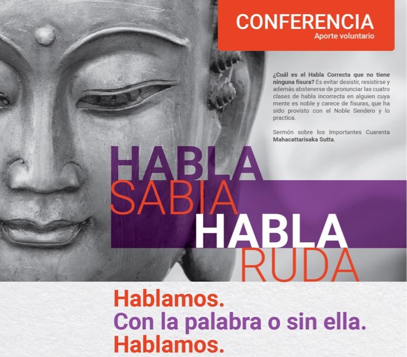 CONFERENCIA HABLA SABIA-HABLA RUDA. Junio 29-6:30 pm