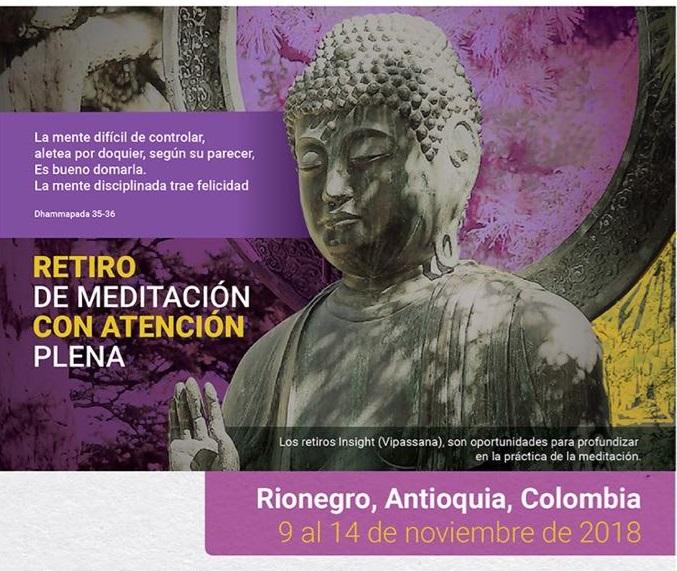RETIRO DE MEDITACIÓN INSIGHT-Inscripciones hasta agosto 8