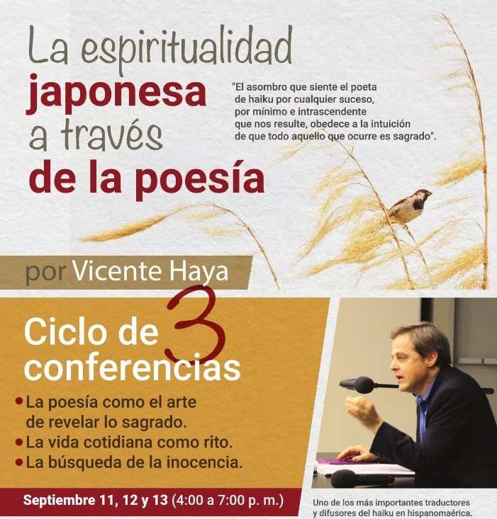 LA ESPIRITUALIDAD JAPONESA A TRAVÉS DE LA POESÍA, septiembre 11, 12 y 13