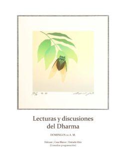 NUEVA ACTIVIDAD LECTURA/CHARLA DEL DHARMA: DOMINGOS – 10:00 a.m.